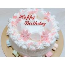 棉花糖花式蛋糕